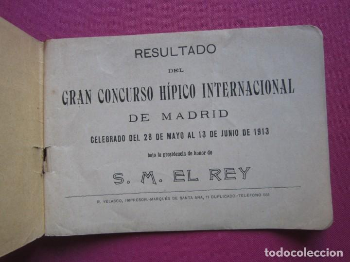 Documentos antiguos: CONCURSO HIPICO INTERNACIONAL DE MADRID PRESIDENTE DE HONOR S. M. EL REY 1913 C5 - Foto 1 - 254620535