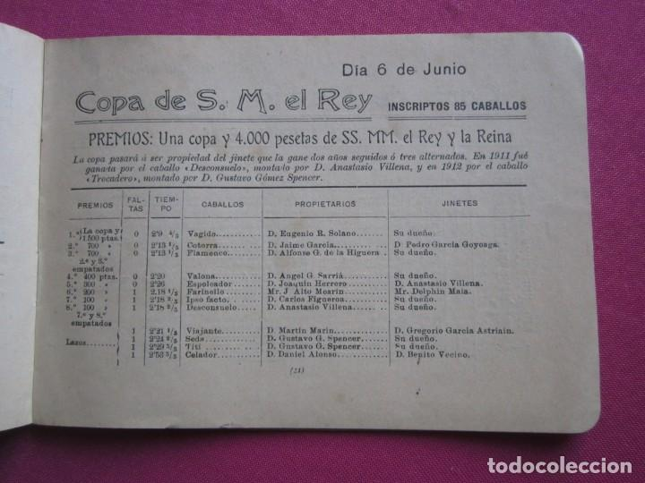 Documentos antiguos: CONCURSO HIPICO INTERNACIONAL DE MADRID PRESIDENTE DE HONOR S. M. EL REY 1913 C5 - Foto 6 - 254620535