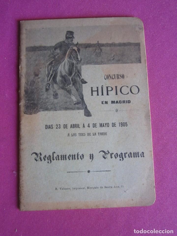 CONCURSO HIPICO EN MADRID REGLAMENTO Y PROGRAMA AÑO 1905 C5 (Coleccionismo - Documentos - Otros documentos)