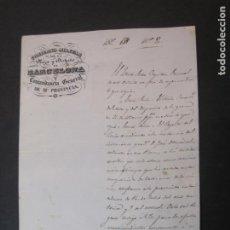 Documentos antiguos: GOBIERNO MILITAR DE BARCELONA-COMANDANCIA GENERAL-AÑO 1842-DOCUMENTO ANTIGUO-VER FOTOS-(K-2270). Lote 254623150