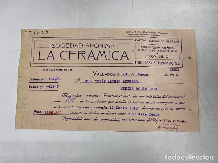 MEMBRETE. SOCIEDAD ANÓNIMA LA CERÁMICA. VALLADOLID. (Coleccionismo - Documentos - Otros documentos)