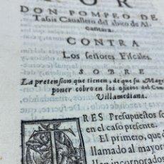 Documentos antiguos: SIGLO XVII. PRETENSIÓN DE QUE SU MAGESTAD MANDE COBRAR OFICIOS CONDE VILLAMEDIANA. FIRMA CUEVA Y SIL. Lote 257487280