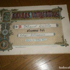 Documentos antiguos: CUADERNO TRABAJOS CALIGRÁFICOS COLEGIO CALASANCIO CURSO 1932 A 1933 32X22 CM. 20 HOJAS GRAF. MADRID. Lote 257518565