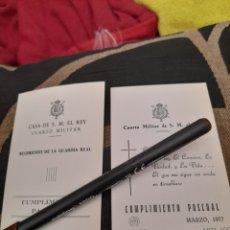 Documentos antiguos: DOS RECORDATORIOS DEL CUARTO MILITAR DE S.M EL REY DE 1976 Y 1977. Lote 259267595