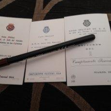Documentos antiguos: TRES RECORDATORIOS DELA CASA MILITAR DE S.E. EL JEFE DEL ESTADO Y GENERALÍSIMO DE LOS EJÉRCITOS. Lote 259268475
