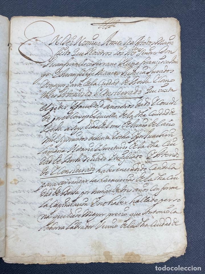 Documentos antiguos: 1689. CARNICERÍAS DE BORJA, ZARAGOZA. CAPITULACIONES Y ARRENDAMIENTO. FIRMA NOTARIAL. IMPORTANTE. - Foto 2 - 259296410