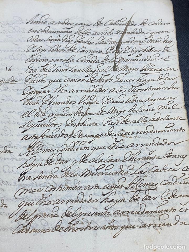 Documentos antiguos: 1689. CARNICERÍAS DE BORJA, ZARAGOZA. CAPITULACIONES Y ARRENDAMIENTO. FIRMA NOTARIAL. IMPORTANTE. - Foto 6 - 259296410