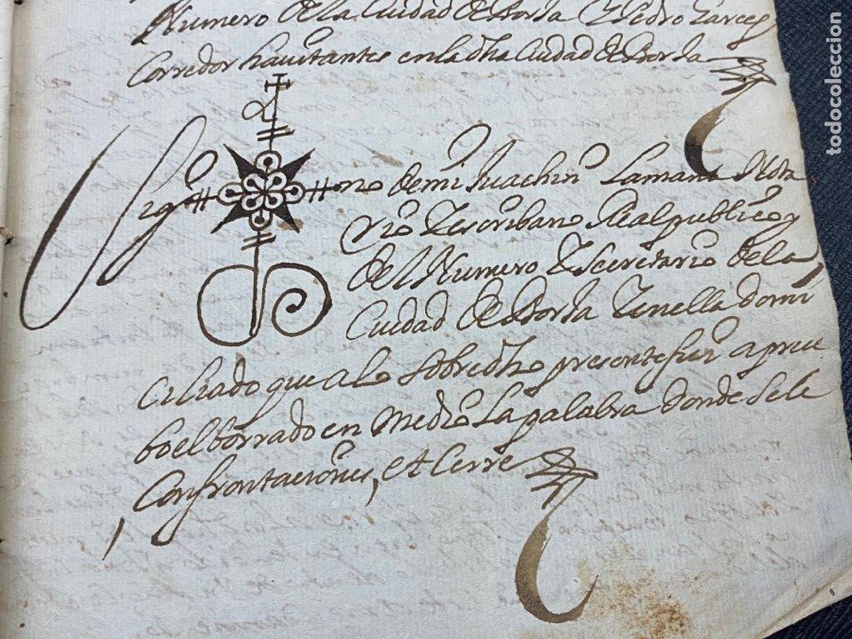 Documentos antiguos: 1689. CARNICERÍAS DE BORJA, ZARAGOZA. CAPITULACIONES Y ARRENDAMIENTO. FIRMA NOTARIAL. IMPORTANTE. - Foto 7 - 259296410