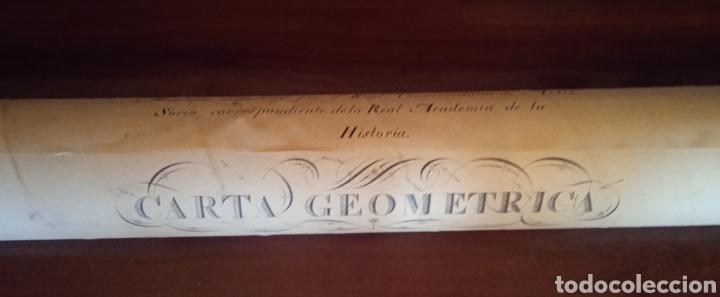 CARTA GEOMETRICA MAPA DE GALICIA DE DOMINGO FONTAN (Coleccionismo - Documentos - Otros documentos)