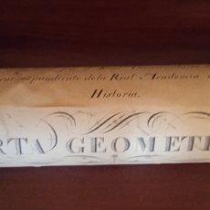 Documentos antiguos: CARTA GEOMETRICA MAPA DE GALICIA DE DOMINGO FONTAN. Lote 260571995