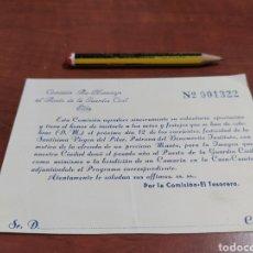 Documentos antiguos: GUARDIA CIVIL , ELDA ALICANTE . 12 OCTUBRE VIRGEN DEL PILAR.. Lote 260822565