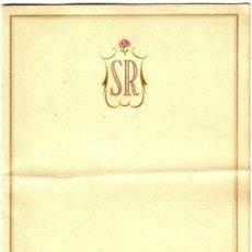 Documentos antiguos: SALÓN ROSA - BARCELONA - INVITACIÓN INAUGURACIÓN NUEVOS SALONES - 22.09.1941 POR TOMÁS BONNÍN. Lote 262025395