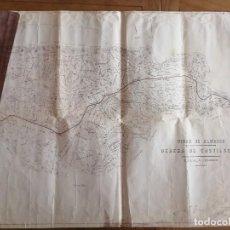 Documentos antiguos: MINAS DE ALMADÉN, COPIA PLANO DEHESA DE CASTILLERAS 1920. 56X72CM. W. Lote 262044065