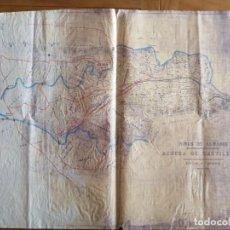 Documentos antiguos: MINAS DE ALMADÉN. PLANO DEHESA DE CASTILLERAS 1920 . 56X73CM. W. Lote 262044450