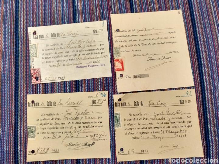 Documentos antiguos: DIEZ RECIBOS CON SELLOS FALANGE ETC GUERRA CIVIL 1936 A 1939 - Foto 2 - 262054660