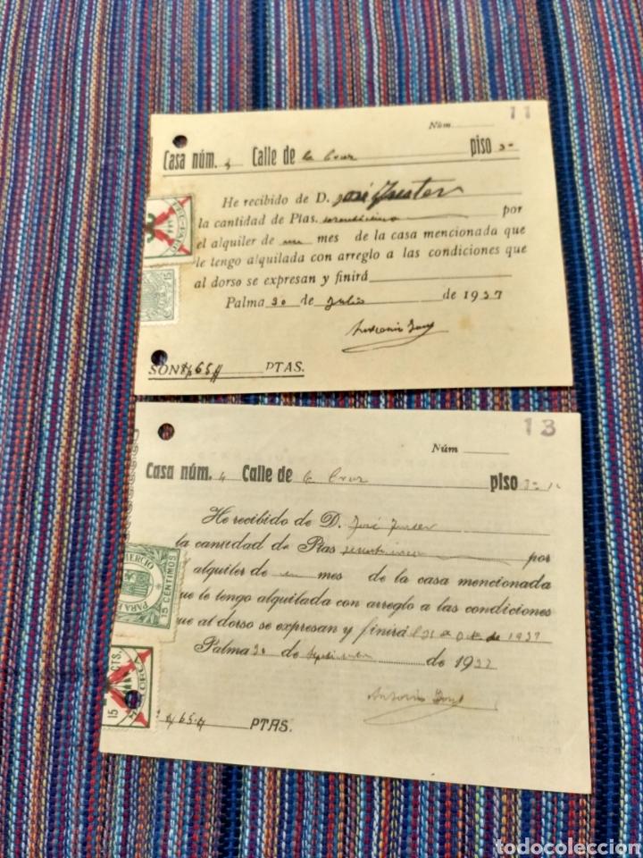 DIEZ RECIBOS CON SELLOS FALANGE ETC GUERRA CIVIL 1936 A 1939 (Coleccionismo - Documentos - Otros documentos)