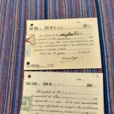 Documentos antiguos: DIEZ RECIBOS CON SELLOS FALANGE ETC GUERRA CIVIL 1936 A 1939. Lote 262054660