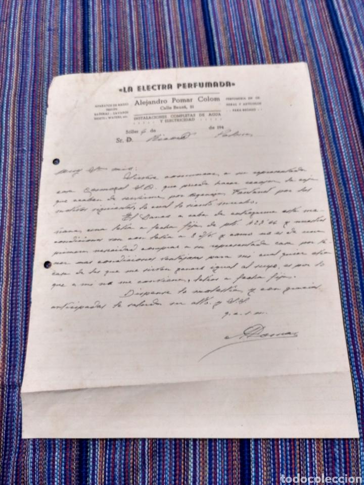 AÑOS 40 LA ELECTRA PERFUMADA SÓLLER MALLORCA ALEJANDRO POMAR COLOM (Coleccionismo - Documentos - Otros documentos)