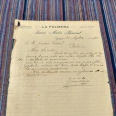 Documentos antiguos: AÑOS 30 CAPDEPERA MALLORCA LA PALMERA FABRICACIÓN DE OBRA DE PALMITO. Lote 262057795