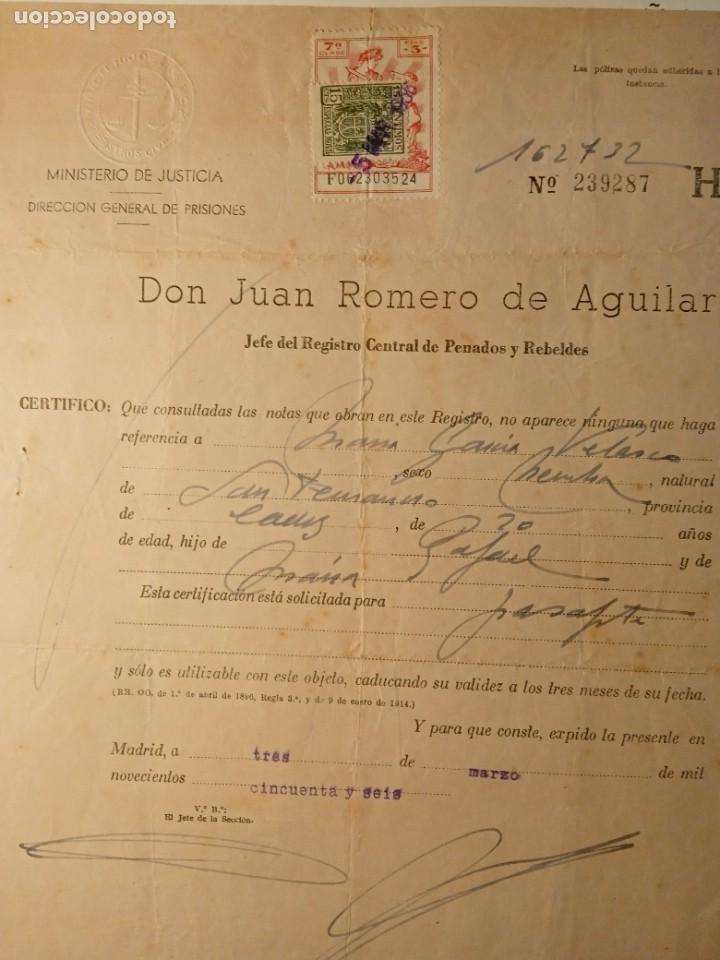 Documentos antiguos: TIMBROLOGÍA FISCAL serie 1940 -1946. SELLO clase 7-- 3 PESETAS +especial movil 15cts timbres - Foto 2 - 262059095
