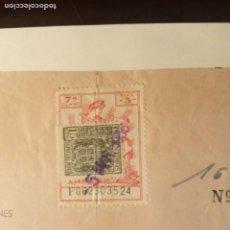Documentos antiguos: TIMBROLOGÍA FISCAL SERIE 1940 -1946. SELLO CLASE 7-- 3 PESETAS +ESPECIAL MOVIL 15CTS TIMBRES. Lote 262059095