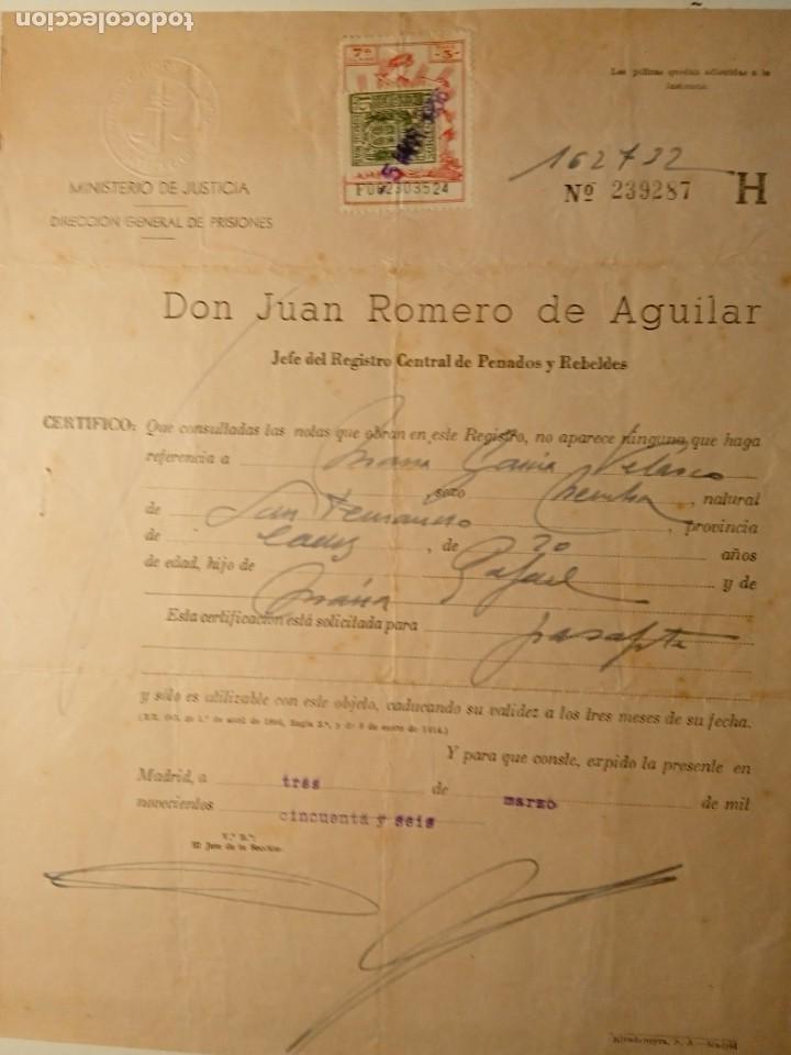 Documentos antiguos: TIMBROLOGÍA FISCAL serie 1940 -1946. SELLO clase 7-- 3 PESETAS +especial movil 15cts timbres - Foto 4 - 262059095