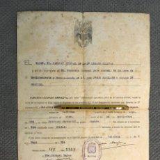 Documentos antiguos: MILITAR VALENCIA. DOCUMENTO LICENCIA ABSOLUTA. 3A. REGIÓN MILITAR (MAYO DE 1954). Lote 262303565