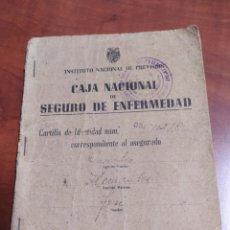 Documentos antiguos: CAJA NACIONAL DE SEGUROS DE ENFERMEDAD 1944 ELCHE ALICANTE.. Lote 262375270