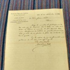 Documentos antiguos: 1926 SINDICATO AGRICOLA CATÓLICO SAN BARTOLOMÉ Y CAJA RURAL SÓLLER MALLORCA. Lote 262383475
