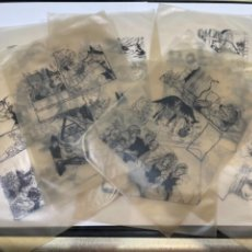 Documentos antiguos: PILAR BLASCO ILUSTRADORA -CAPERUCITA ROJA LOTE DIBUJOS Y FOTOLITOS- (T1). Lote 262513880