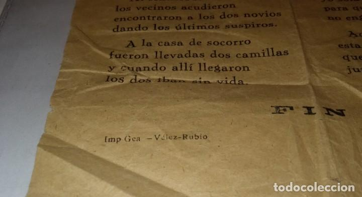 Documentos antiguos: Antiguo pliego de cordel o romance de mercado. La venganza de una joven contra el ladrón de su honra - Foto 4 - 262863375