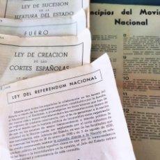 Documentos antiguos: LOTE DE 6 BOLETINES DE LEYES CREADAS EN LA POSGUERRA AÑOS 40. Lote 263189485