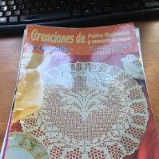 Documentos antiguos: CREACIONES DE PAÑOS REDONDOS Y CAMINOS DE MESA NUMERO 1. Lote 263195270