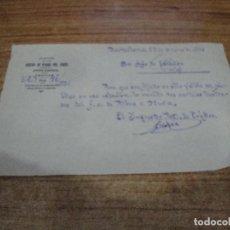 Documentos antiguos: CAMINOS DE HIERRO DEL NORTE COMUNICADO COMUNICADO INSPECTOR TRAFICO A JEFE DE ESTACION AÑOS 30. Lote 263223870