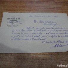 Documentos antiguos: CAMINOS DE HIERRO DEL NORTE COMUNICADO COMUNICADO INSPECTOR TRAFICO A JEFE DE ESTACION AÑOS 30. Lote 263223910