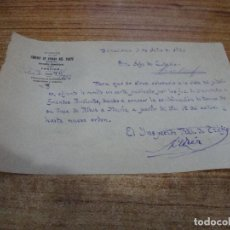 Documentos antiguos: CAMINOS DE HIERRO DEL NORTE COMUNICADO COMUNICADO INSPECTOR TRAFICO A JEFE DE ESTACION AÑOS 30. Lote 263223930