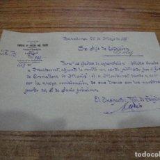 Documentos antiguos: CAMINOS DE HIERRO DEL NORTE COMUNICADO COMUNICADO INSPECTOR TRAFICO A JEFE DE ESTACION AÑOS 30. Lote 263223935