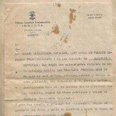 Documents Anciens: FET Y DE LAS JONS ALBORAYA VALENCIA 1942. Lote 263553650