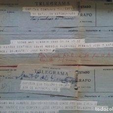 Documents Anciens: LOTE DE TELEGRAMAS POSTALES. FOTOS DE TODOS.. Lote 263777660