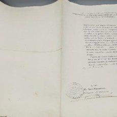 Documentos antiguos: CERTIFICADO DECLARANDO LIBRE DEL SERVICIO DE LAS ARMAS A JUAN IBARRA PUEBLO DE DEVA(GUIPUZCOA) 1879. Lote 264332224