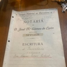 Documentos antiguos: ESCRITURA. Lote 264421479