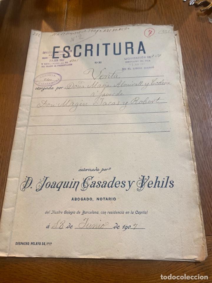 ESCRITURA (Coleccionismo - Documentos - Otros documentos)