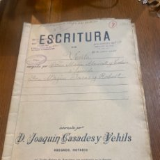 Documentos antiguos: ESCRITURA. Lote 264424734