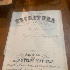 Documentos antiguos: ESCRITURA. Lote 264428094
