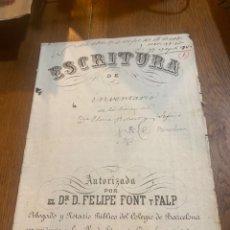 Documentos antiguos: ESCRITURA. Lote 264429144