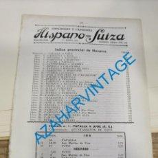 Documentos antiguos: 1930, LINEAS DE AUTOBUSES DE NAVARRA Y SU PROVINCIA, HORARIOS Y PRECIOS, 15 PAGINAS. Lote 265502204