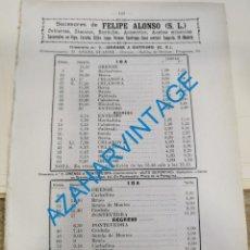 Documentos antiguos: 1930, LINEAS DE AUTOBUSES DE ORENSE Y SU PROVINCIA, HORARIOS Y PRECIOS, 7 PAGINAS. Lote 265503969