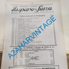 Documentos antiguos: 1930, LINEAS DE AUTOBUSES DE PONTEVEDRA Y SU PROVINCIA, HORARIOS Y PRECIOS, 12 PAGINAS. Lote 265506224