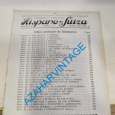 Documentos antiguos: 1930, LINEAS DE AUTOBUSES DE SALAMANCA Y SU PROVINCIA, HORARIOS Y PRECIOS, 16 PAGINAS. Lote 265508179