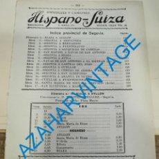 Documentos antiguos: 1930, LINEAS DE AUTOBUSES DE SEGOVIA Y SU PROVINCIA, HORARIOS Y PRECIOS, 10 PAGINAS. Lote 265508834